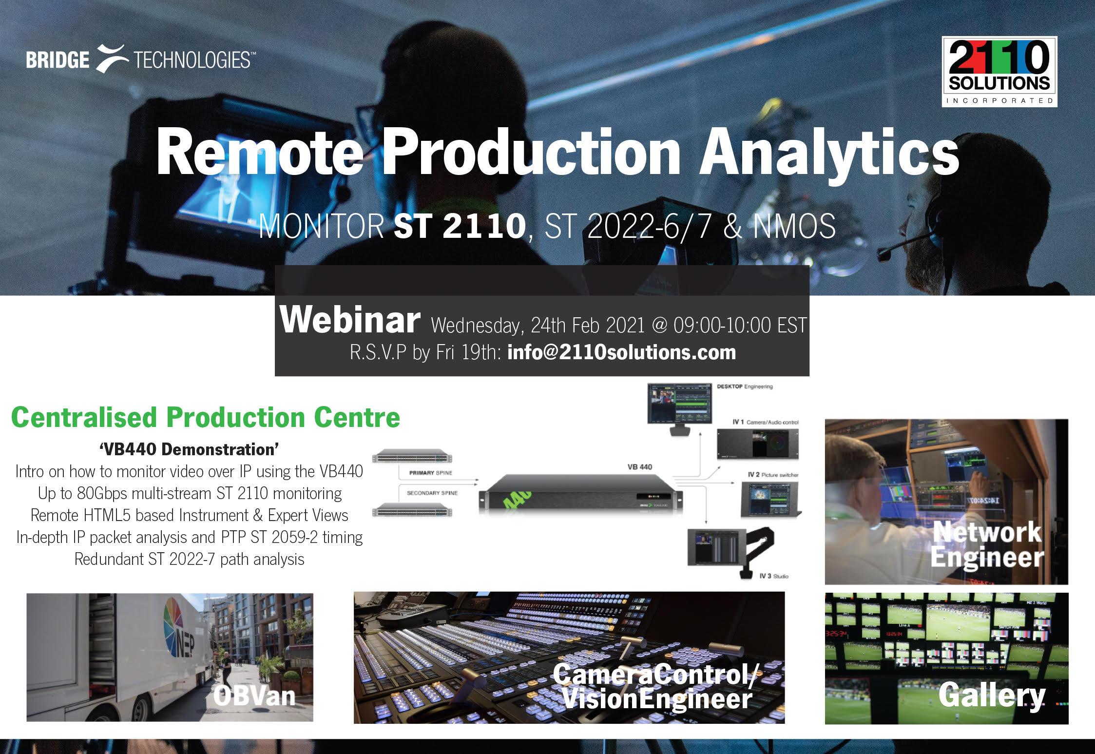 Remote Production Analytics Webinar